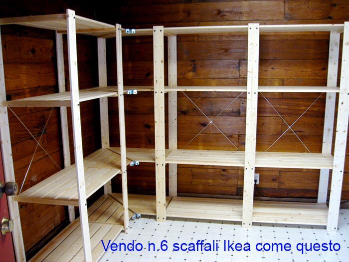 scaffale legno ikea usato