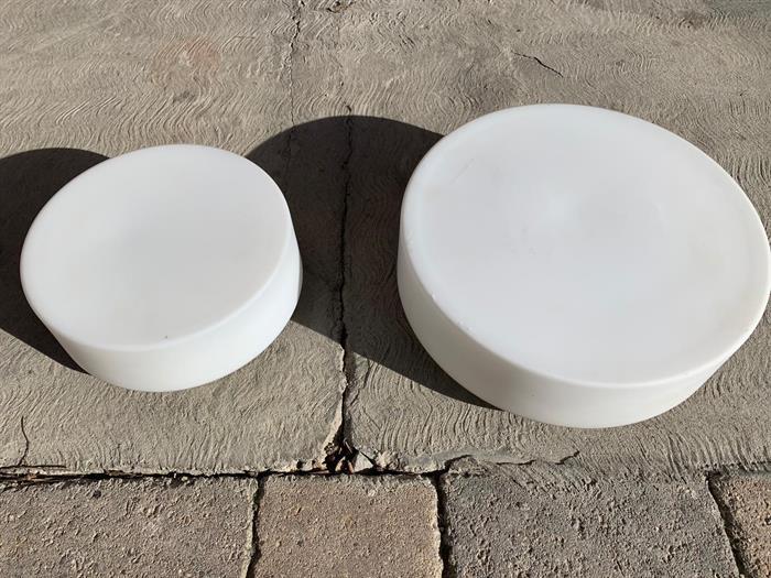 Plafoniere Per Doghe : Set plafoniere cm plafoniera in vetro bianco su